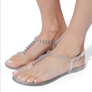 NWB AUTHENTIC SERGIO ROSSI JELLY SANDALS